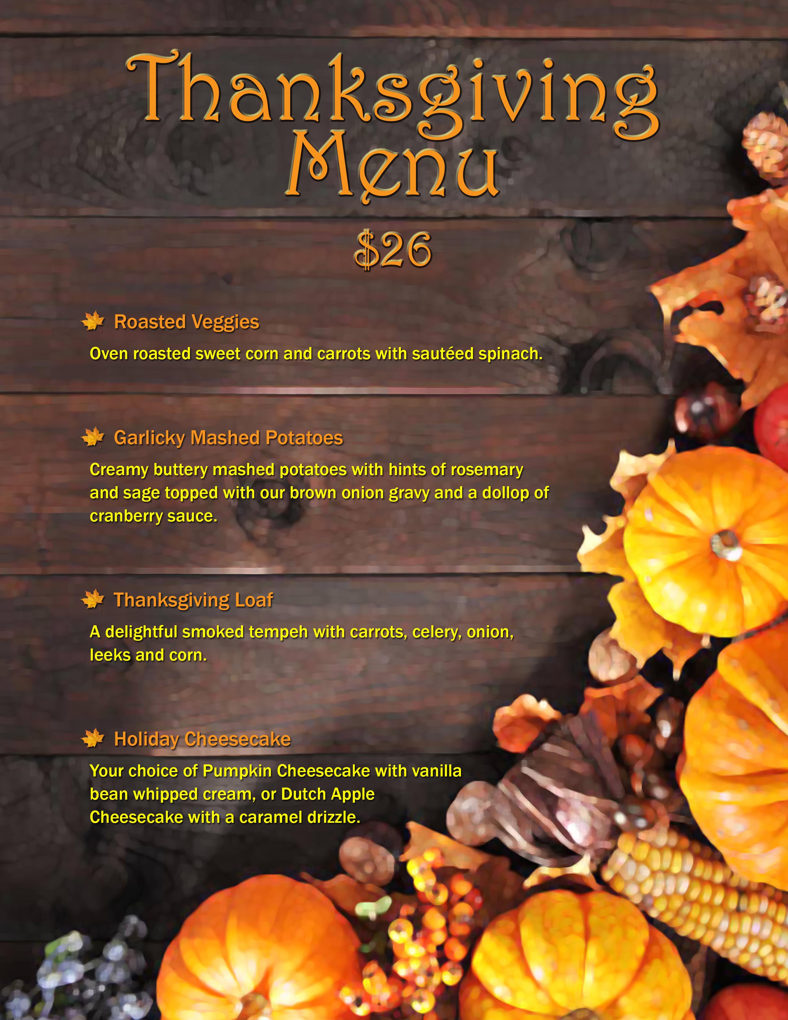 Viva Menu 9x1 Thanksgiving